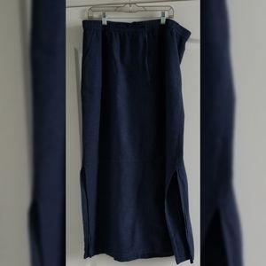Pre Loved Blue Liz Claiborne Long Skirt Size XL